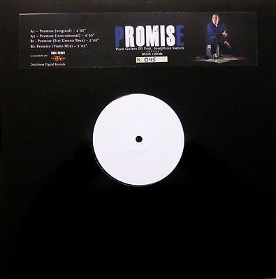 Paco Galera Dj Feat Josephine Sweett – Promise ' 12'' MINT LIMITED NUMERED