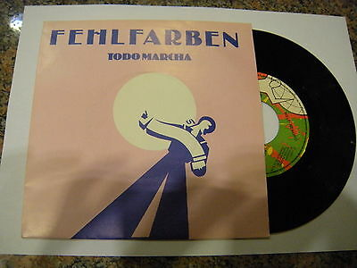 Fehlfarben ‎– Todo Marcha ' 7'' MINT SPAIN PRESS