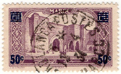 (I.B) French Morocco Postal : Pictorial 50c on 60c OP
