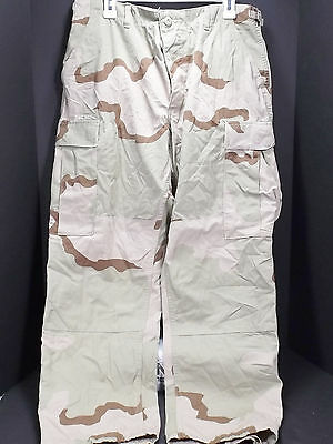 "Men's Camouflage Trousers Pants Desert Combat Waist 31""-35"""