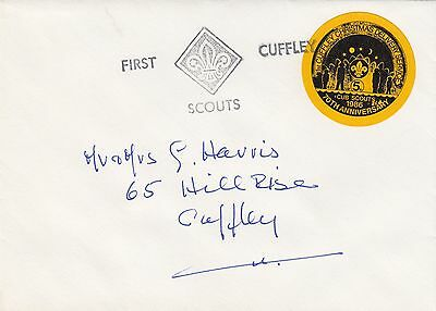 (84407) CLEARANCE GB Abdeckung Cuffley Scouts Christmas 1986 Lieferung Dienst