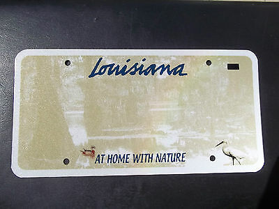 Louisiana Graphic 3M  Blank   Pre-Production License Plate