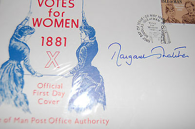 Margaret Thatcher Signed 1981 Votes For Women Fdc