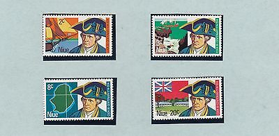 (84106) Niue Captain Cook BiCentenary on Presentation Card 1974