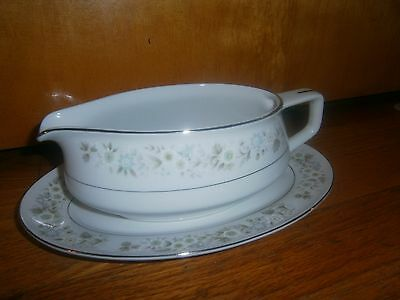 vintage Imperial China W. Dalton #745 Wild Flower gravy boat and dish mint