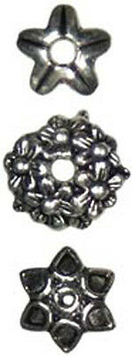 Silver Mixed Cap - Jewelry Basics Metal Beads 10mm 30/Pkg