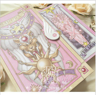 Anime 56 Piece Card Captor Sakura Cards With Pink Clow Magic Book Set Prop Gifts