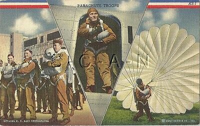 WWII Original Linen Army PC- Paratrooper- Parachute Troops- Ready For Action