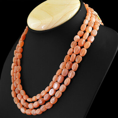 Fine Jewelry RARE AMAZING 432.05 CTS NATURAL 3 STRAND YELLOW ONYX UNTREATED BEADS NECKLACE Jewelry & Watches