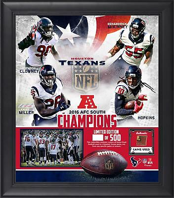 Houston Texans Framed 15x17 2016 AFC South Division Champs Collage w/ Ball Piece