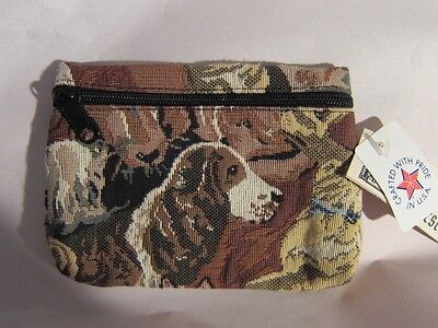 Tapestry Fabric SPRINGER SPANIEL Zippered Cosmetic Pouch Case