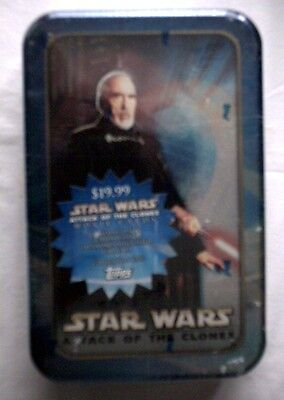 Star Wars AOTC Count Dooku  Tin and Cards,NEW,UNOPENED