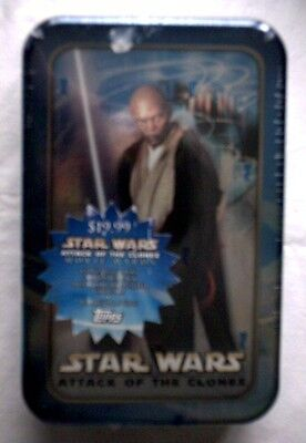 Star Wars AOTC Mace Windu  Tin and Cards,NEW,UNOPENED
