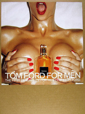 2007 sexy woman bottle photo Tom Ford Fragrance for Men print Ad