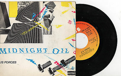 "MIDNIGHT OIL ‎– U.S. Forces / Outside World, SG 7"" SPANISH PRESS 1982 PROMO"