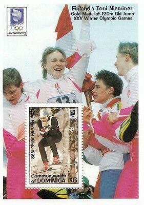 (87962) Dominica MNH Olympiques Liilehammer Hiver Mini feuille 1994