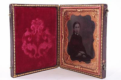 1/6'th Plate Ambrotype Photograph  in Union Case