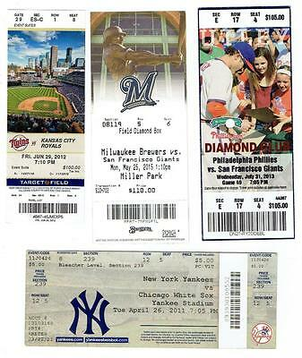 LOT of MLB TICKETS ~ Different Teams, Ball Parks ~ 2001-2015