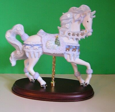 LENOX 2003 annual CHRISTMAS CAROUSEL sculpture NEW in BOX horse