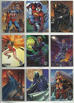 "1996 DC/Marvel Amalgam ""Complete Base Set"" of 90 Cards (1-90)"