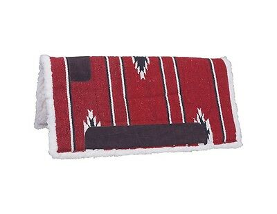 "Tough-1 Western Saddle Pad Square Fleece Felt 30"" x 30"" Red 31-641"