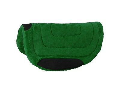 "Tough-1 Western Saddle Pad Barrel Fleece Suede 29"" x 30"" Green 31-623"
