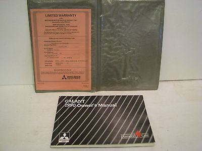 1990 Mitsubishi Galant ORIGINAL Owner's Manual