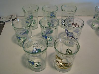 Lot Of 8 Vintage Tom And Jerry Welch's Jars. 1991 TURNER   4 INCHES