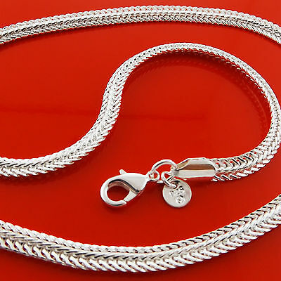 A904 Genuine Real 925 Sterling Silver Sf Unisex Mens Ladies Chain Necklace Chain