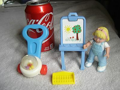 Dollhouse Fisher Price Pull Toy Popper Easel Art Girl Figure Xylophone Lot 1990s