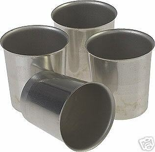Seamless Metal VOTIVE Candle Molds (Lot of 12) -  No Charge for Shipping