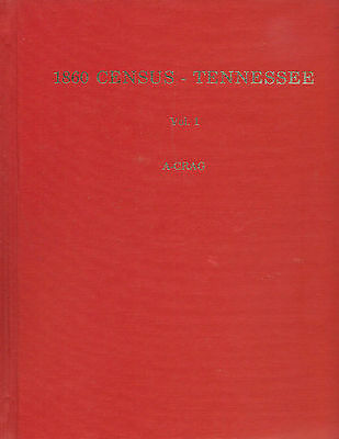 1860 Census Tennessee by Sistler 1981 hard cover 448 pages genealogy names