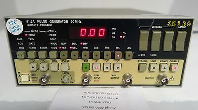 Hewlett Packard HP 8112A Pulse Generator 50MHz Free Shipping