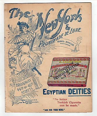 1900 THE NEW YORK THEATRE Program BURLESQUE The Giddy Throng ALFRED SLOANE Sire