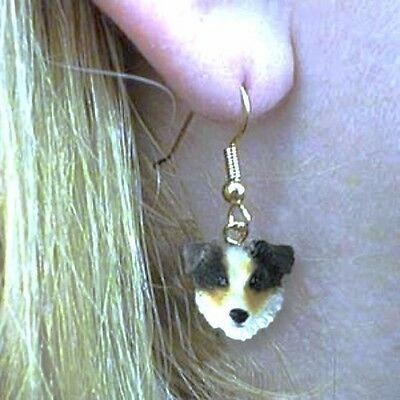 Dangle French Wire AUSTRALIAN SHEPHERD BLUE  Dangle Earrings CLEARANCE