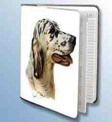 Retired ENGLISH SETTER Softcover Address Book artwork by Robert May