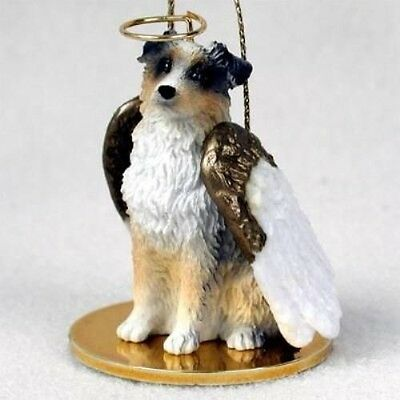 Small Angel AUSTRALIAN SHEPHERD BLUE Xmas Angel Tree Ornament