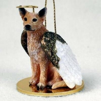 Small Angel AUSTRALIAN CATTLEDOG RED Xmas Angel Tree Ornament