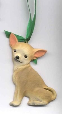 Sitting CHIHUAHUA Unbreakable Poly Christmas Ornament