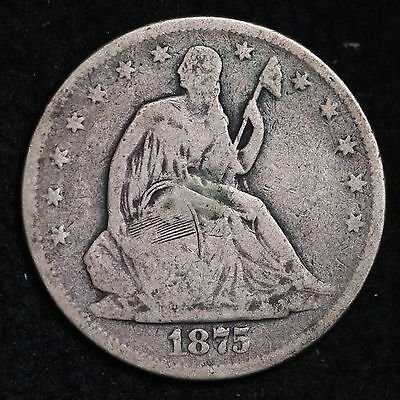 1875-S Seated Liberty Half Dollar CHOICE FREE SHIPPING E415 NM