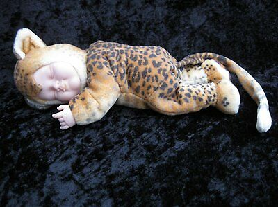 Anne Geddes Baby Leopard Light Skin Infant Doll Plush Costume 2000 - 9""