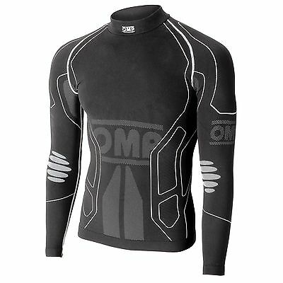 OMP Go Kart / Karting KS Winter-R Long Sleeve Underwear Top Black - KK03021E