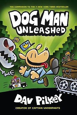 Adventures of Dog Man: Unleashed by Dav Pilkey Hardcover Book Free Shipping!