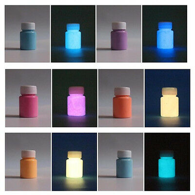 Glow in the Dark Pigment Graffiti DIY Acrylic Luminous Bright Paint Party 20g