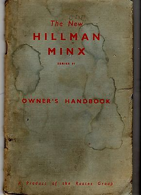 Hillman Minx Series II Issued1957 Models Owners  Drivers Instruction Handbook