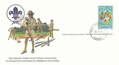 (90162) Zimbabwe FDC Carte Scouts - Harare 21 Juillet 1982