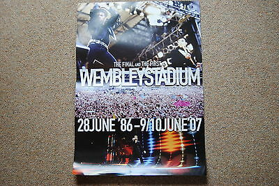 Wham George Michael The Final & First At Wembley Stadium Poster Rare Official