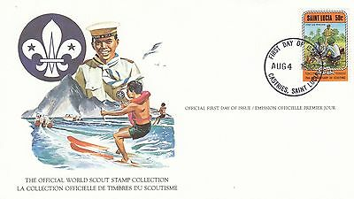 (90229) St Lucia FDC Card Scouts- Castries 4 August 1982