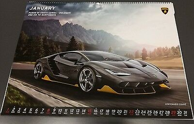 Official Lamborghini Wall Calendar 2017 Very Rare ! New!
