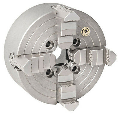 Bison 4 Jaw Independent Lathe Chuck Recess Mount 100mm Steel Body